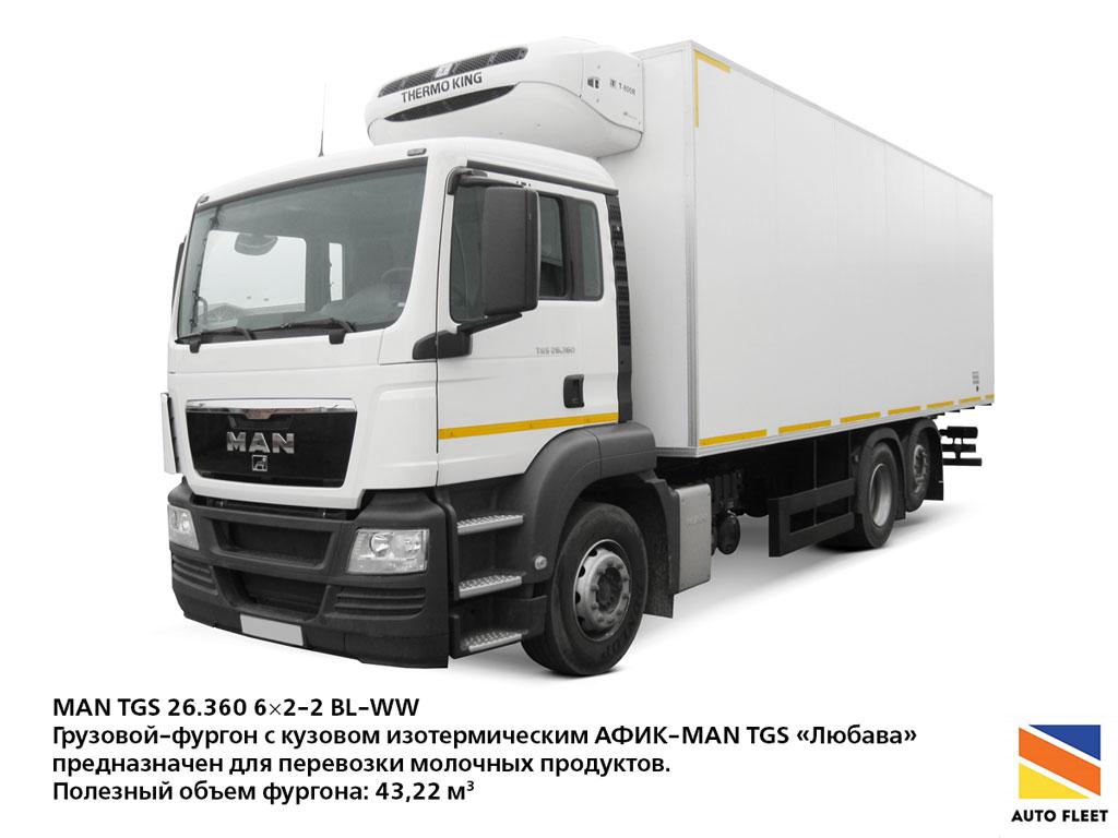 Грузовые фургоны MAN