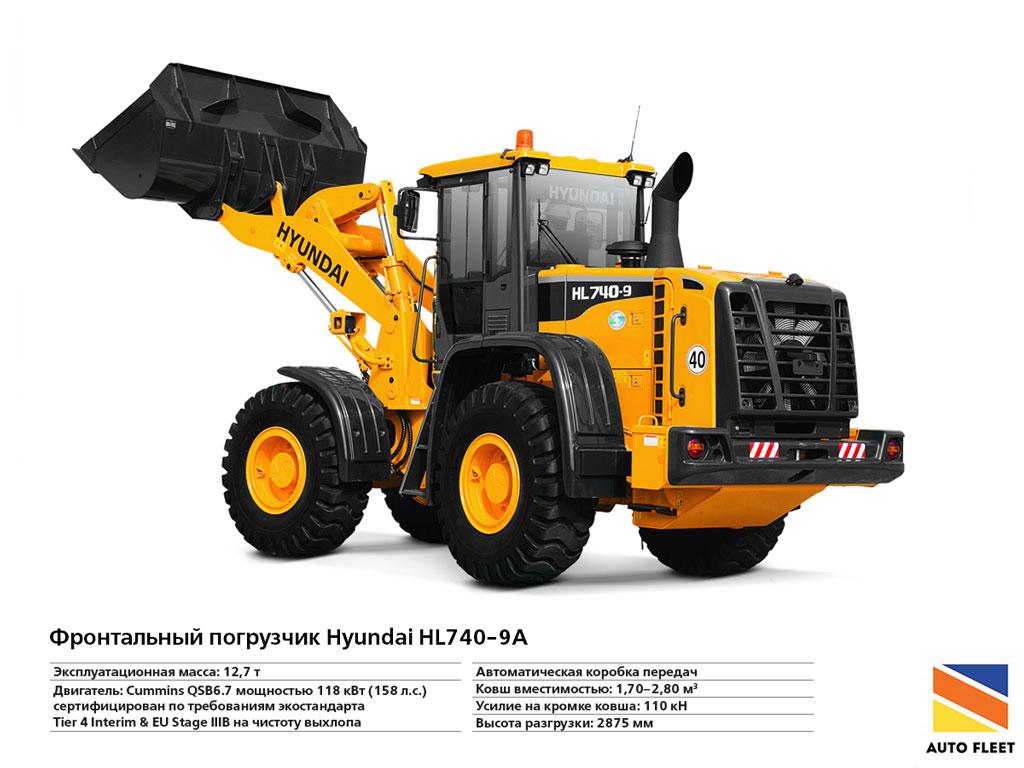 Погрузчики дизельные. Фронтальный-погрузчик-Hyundai-HL740-9A