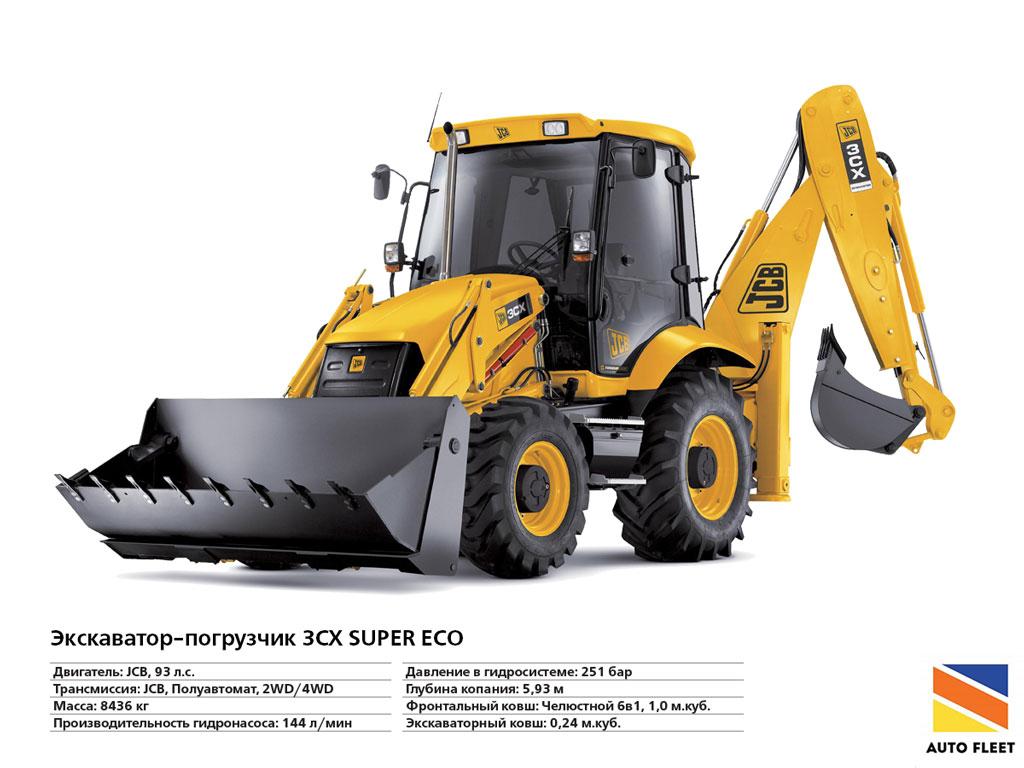 Автопогрузчик ( Forklift ) Экскаватор-погрузчик-3CX-SUPER-ECO.