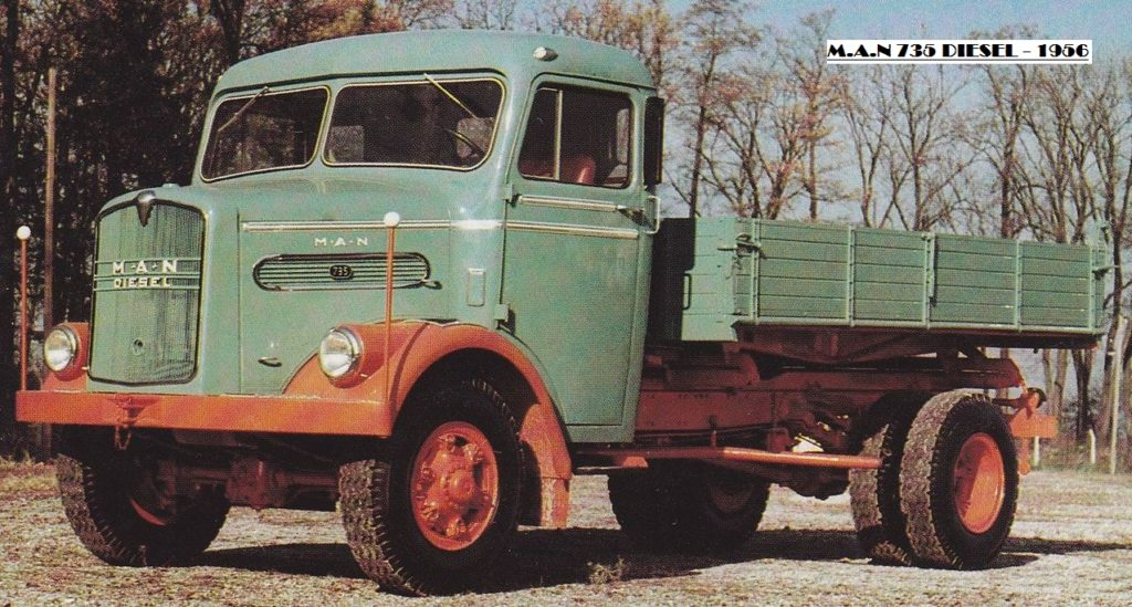 MAN 735 Diesel грузовик бортовой 4х2
