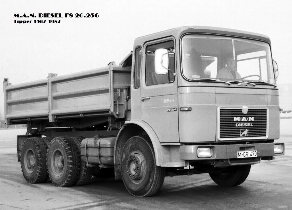 MAN f8 Tipper 1967 самосвал