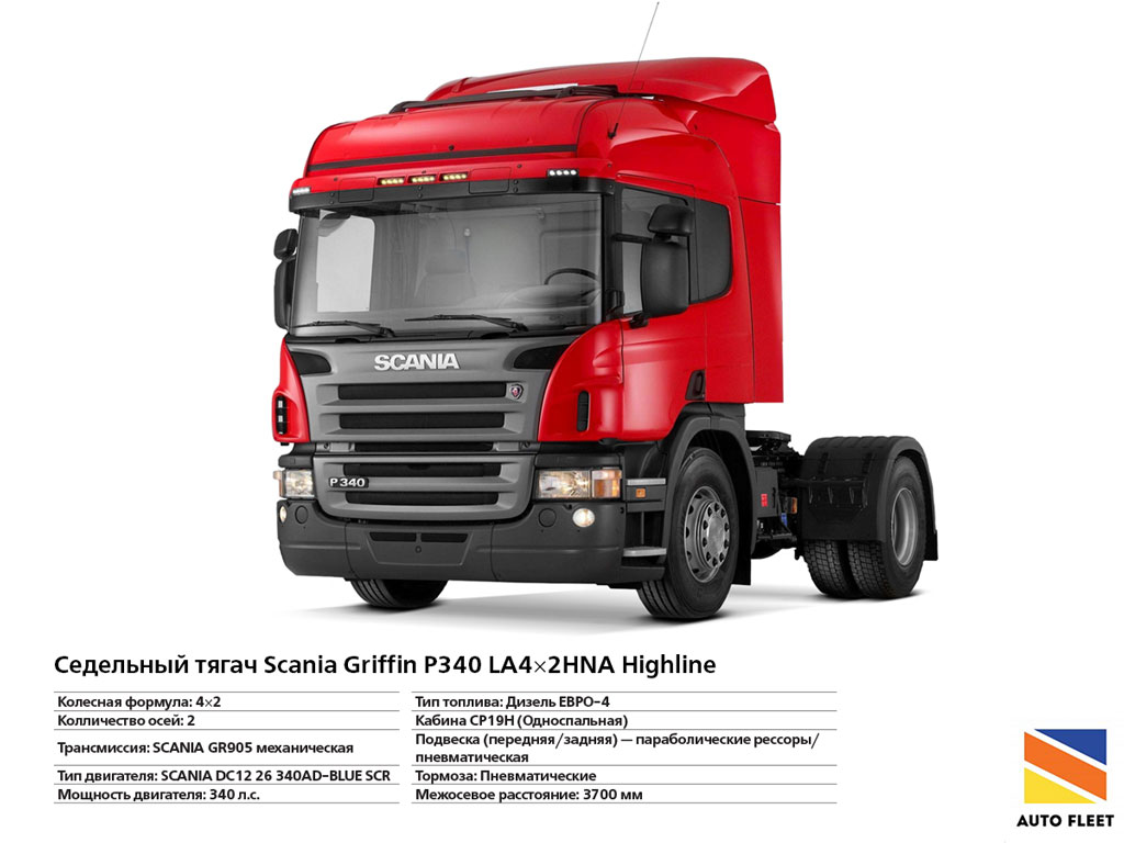 Тягачи SCANIA Griffin P340 LA4×2HNA Highline