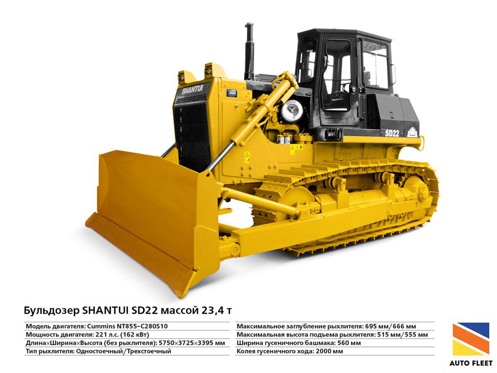 Бульдозеры гусеничные Shantui SD-22