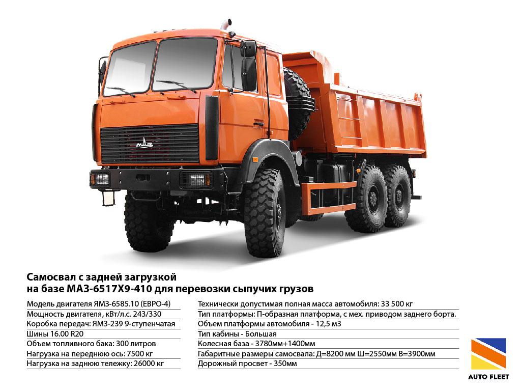 Грузовики МАЗ 6517Х9-410