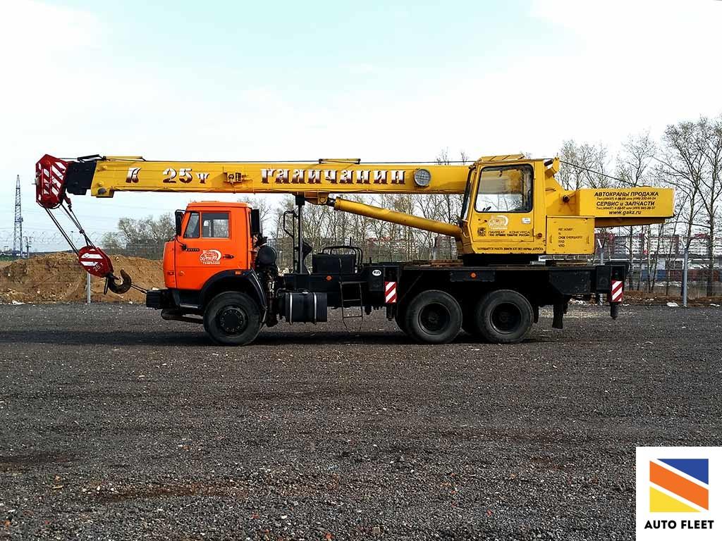 КС 55713 1 Галичанин автокран на базе КАМАЗ 65115-62 Грузоподъемность 25 тонн