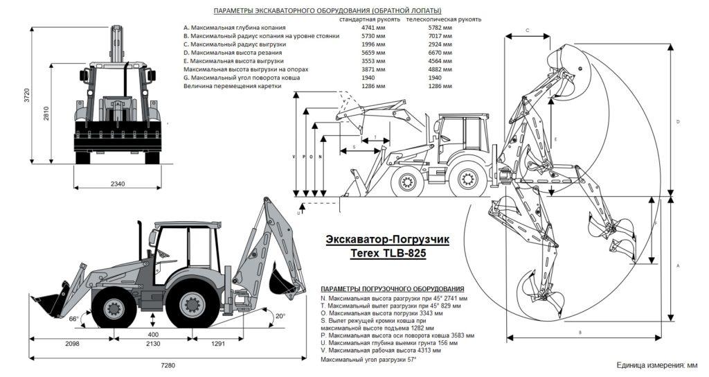 TEREX TLB825 Экскаватор-Погрузчик