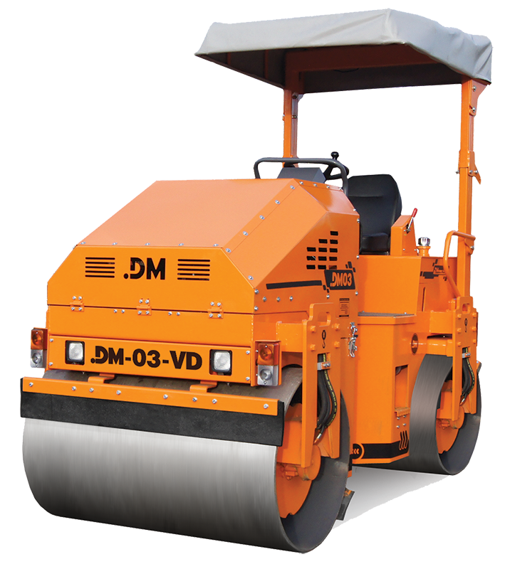 DM-03-VD Каток тротуарный двухвальцовый вибрационный